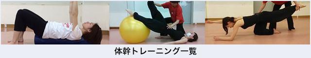 体幹トレーニング一覧